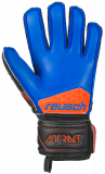 Reusch Attrakt SG Extra Finger Support Junior 5072830 7083 black blue orange back