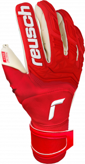 Reusch Attrakt Freegel Gold X Finger Support 5170960 3002 white red front