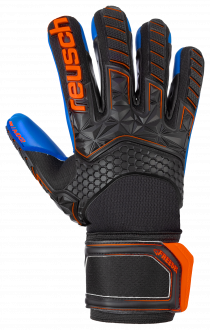 Reusch Attrakt Freegel MX2 Finger Support 5070130 7083 black blue orange front