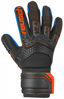 Reusch Attrakt Freegel S1 Junior 5072239 7083 black blue orange front