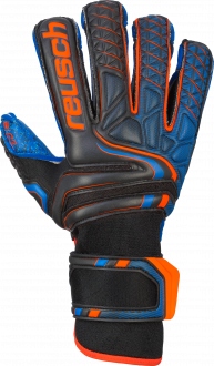 Reusch Attrakt G3 Fusion Evolution Finger Support 5070938 7083 black blue orange front