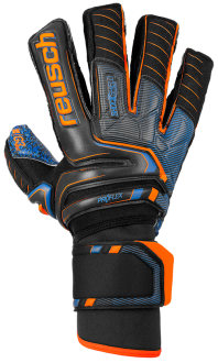 Reusch Attrakt G3 Fusion Ortho-Tec Goaliator 5070991 7083 black blue orange front