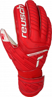 Reusch Attrakt Grip Finger Support 5170810 3002 white red front