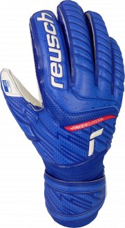 Reusch Attrakt Grip Finger Support 5170810 4011 white blue front
