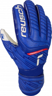 Reusch Attrakt Grip Finger Support Junior 5172810 4011 white blue front