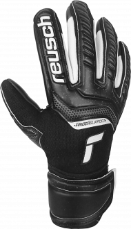 Reusch Attrakt Infinity Finger Support Junior 5172730 7700 black front