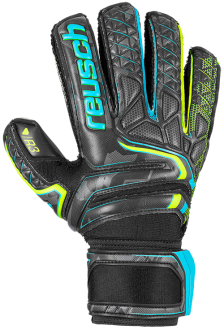 Reusch Attrakt R3 Finger Support 5070730 7052 black yellow front