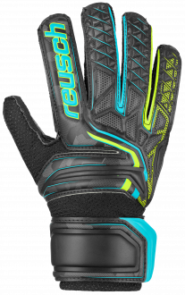Reusch Attrakt RG Open Cuff Junior 5072615 7052 black yellow front