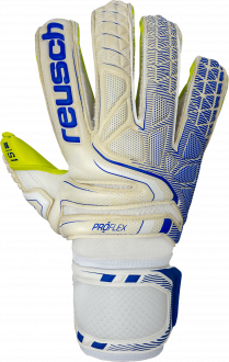 Reusch Attrakt S1 Evolution Finger Support 5070138 1091 white blue yellow front