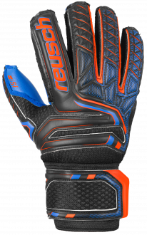 Reusch Attrakt S1 Finger Support Junior 5072230 7083 black blue orange front