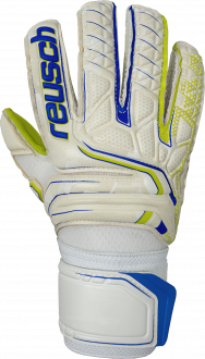 Reusch Attrakt S1 Junior 5072135 1091 white blue yellow front
