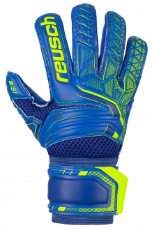 Reusch Attrakt S1 Roll Finger Junior 5072217 4949 blue yellow front
