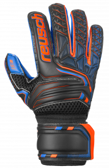 Reusch Attrakt S1 Roll Finger Junior 5072217 7083 black blue orange front