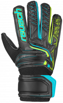 Reusch Attrakt SD Open Cuff Junior 5072515 7052 black yellow front