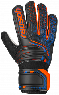 Reusch Attrakt SD Open Cuff Junior 5072515 7783 black orange front