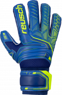 Reusch Attrakt SG Extra Finger Support 5070830 4949 blue yellow front
