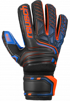 Reusch Attrakt SG Extra Finger Support 5070830 7083 black blue orange front