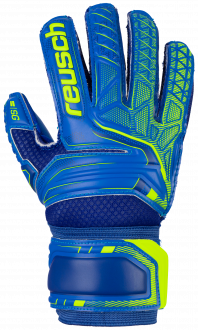Reusch Attrakt SG Extra Finger Support Junior 5072830 4949 blue yellow front