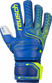 Reusch Attrakt SG Finger Support 5070810 4940 blue yellow front