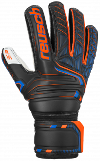 Reusch Attrakt SG Finger Support 5070810 7783 black orange front