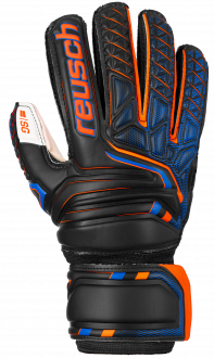Reusch Attrakt SG Finger Support Junior 5072810 7783 black orange front