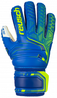 Reusch Attrakt SG Open Cuff Finger Support Junior 5072811 4940 blue front