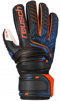 Reusch Attrakt SG Open Cuff Finger Support Junior 5072811 7783 black orange front