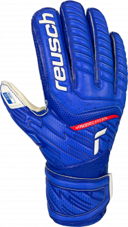 Reusch Attrakt Solid Finger Support Junior 5172510 4011 white blue front