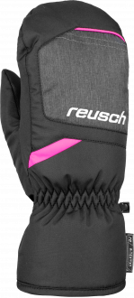 Reusch Bennet R-TEX® XT Junior Mitten 6061506 7771 black grey pink front