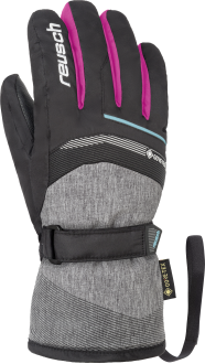 Reusch Bolt GTX Junior 4961305 7771 black grey pink front