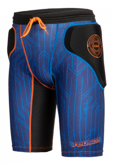 Reusch CS Femur Short Padded 3818530 7083 black blue orange front