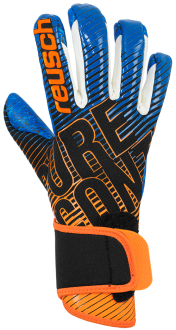 Reusch Pure Contact 3 G3 Fusion Junior 5072900 7083 black blue orange front