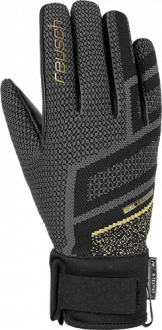 Reusch Re:Knit Victoria R-TEX® XT 4931204 7707 black gold front