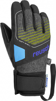 Reusch Torby R-TEX® XT Junior 4961210 6623 black blue yellow front
