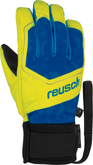 Reusch Torby R-TEX® XT Junior 6061210 4002 black blue yellow front
