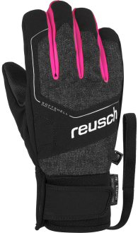 Reusch Torby R-TEX® XT Junior 6061210 7012 black grey pink front