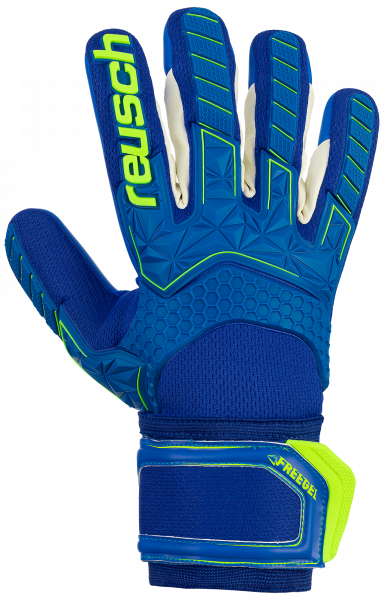 Reusch Attrakt Freegel S1 Finger Support 5070230 4949 blue yellow front
