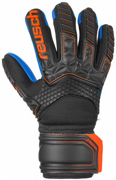 Reusch Attrakt Freegel S1 Finger Support Junior 5072238 7083 black blue orange front