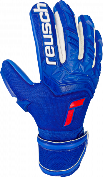 Reusch Attrakt Freegel Silver Finger Support Junior 5172238 4010 blue front