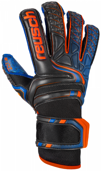 Reusch Attrakt G3 Fusion Evolution 5070939 7083 black blue orange front
