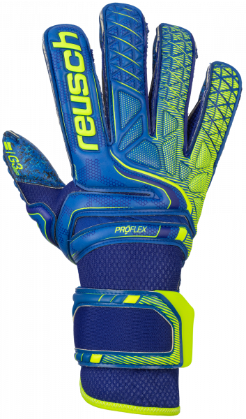 Reusch Attrakt G3 Fusion Evolution Defender 5070959 4949 blue yellow front