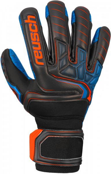 Reusch Attrakt G3 Fusion Evolution NC Ortho-Tec Guardian 5070968 7083 black blue orange front