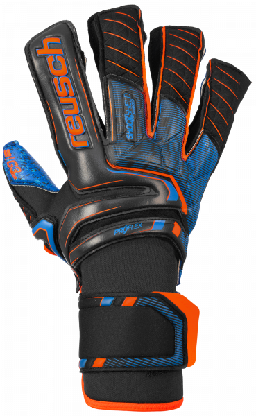Reusch Attrakt G3 Fusion Goaliator 5070993 7083 black blue orange front
