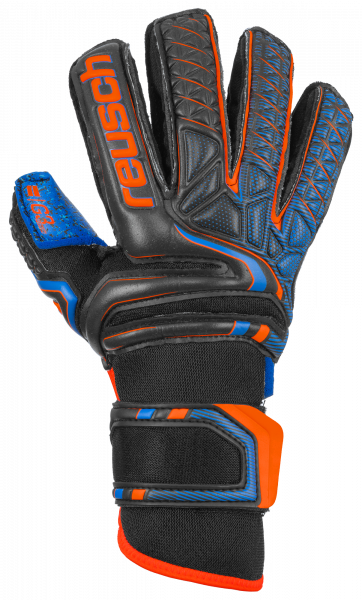 Reusch Attrakt G3 Fusion Ortho-Tec Junior 5072950 7083 black blue orange front