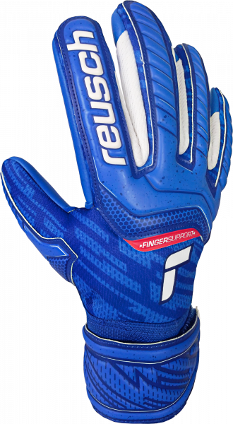 Reusch Attrakt Grip Evolution Finger Support Junior 5172830 4010 blue front