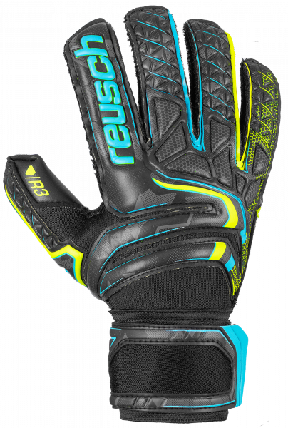 Reusch Attrakt R3 5070735 7052 black yellow front