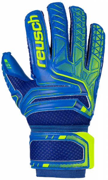 Reusch Attrakt S1 Finger Support Junior 5072230 4949 blue yellow front