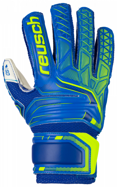 Reusch Attrakt SD Open Cuff Finger Support Junior 5072510 4940 blue yellow front