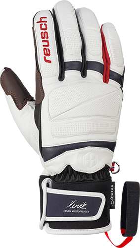 Reusch Henrik Kristoffersen 4901101 1112 white black red front