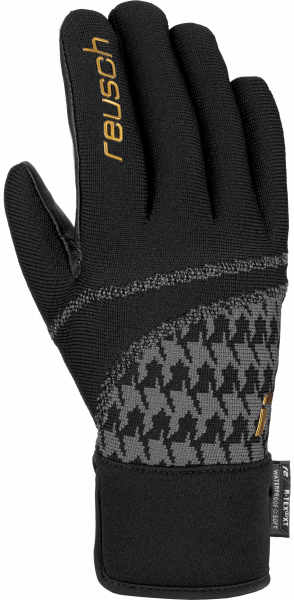 Reusch Re:Knit Victoria R-TEX® XT 6031204 7707 black gold front